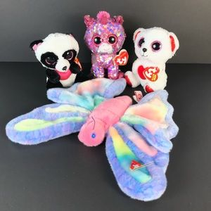Ty Beanie babies plush toys lot of 4